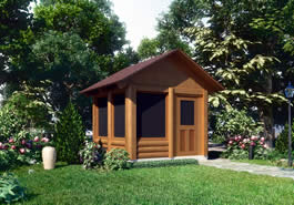 EZ Breeze Log Cabin Model