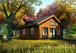 Get A Way Log Cabin Model