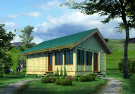 Great Plains Log Cabin Model
