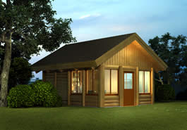 Home Office Log Cabin Model