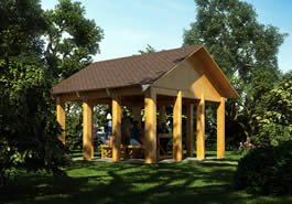 Pavilion Log Cabin Model