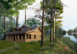 Payson Island Log Cabin Model